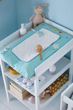 Funny Baby Matelas /à Langer pour B/éb/é Point Nuage Rose 48 x 70 cm