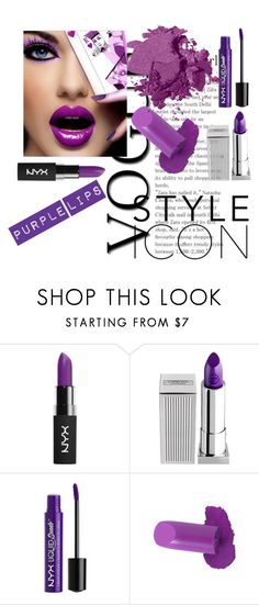 """""""PURPLE LIPS"""" by lovepink75 ❤ liked on Polyvore featuring NYX, Lipstick Queen, Charlotte Russe and Bobbi Brown Cosmetics"""