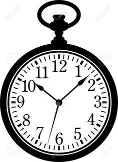 white rabbit clock template - Google Search