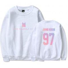BTS K-pop DNA Sweatshirt Men Korean Bangtan Kpop Love Yourself Steetwear Harajuku Hoodies Men Winter Casual Hip Hop Fans Clothes Hoodie Bts, Bts Shirt, Bts Latest Album, Blusas Do Bts, Looks Teen, Bts Clothing, Girlie Style, Bts Inspired Outfits, Korean Fashion Trends