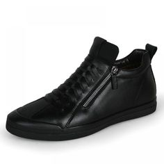 Designer Genuine Leather Men Sneakers - Men Sneakers - Ideas of Men Sneakers - Designer Genuine Leather Men Sneakers Outsole Material:Rubber Closure Type:Zip Upper Material:Split Leather Feature:BreathableWaterproofMassage Season:Win Mens Winter Shoes, Mens Snow Boots, Winter Sneakers, Black Sneakers, Slip On Sneakers, Men Sneakers, Men Boots, Sneakers Adidas, Running Sneakers