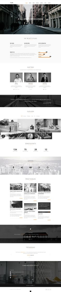 Patti - Parallax One Page HTML Template by DarkStaLkeRR.deviantart.com on…