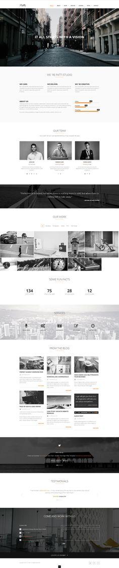 Patti - Parallax One Page HTML Template by DarkStaLkeRR.deviantart.com on @deviantART