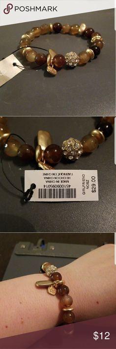 Earthtone Beaded Bracelet Chicos Beautiful gold and earth tones beaded bracelet New with tags Chico's Brand Retail was $29 Chico's Jewelry Bracelets
