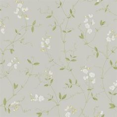 Sanna Light Grey by Sandberg - Airy, fragrant sweet peas that trail their way up the wall. A wonderful, light wallpaper, perfect for a romantic bedroom, where summer lasts all year long. Interior Wallpaper, Lit Wallpaper, Fabric Wallpaper, Vintage Floral Wallpapers, Best Outdoor Lighting, Inspirational Wallpapers, High Quality Wallpapers, Dining Room Lighting, Rose Cottage