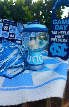 UNC Sporty Gumball Jar by thewhimsybox on Etsy