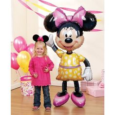 "Giant Minnie Mouse 3D Airwalker 54"" Jumbo Foil Balloon Party Supplies Home Decor #ebay #Home & Garden"