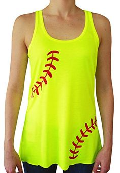 Zone Apparel Women's Softball Laces Racerback Tank Top Small Neon Yellow Zone Apparel http://www.amazon.com/dp/B00W8CAJFO/ref=cm_sw_r_pi_dp_ZcuJvb12QB88Z
