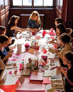 "How to plan a Valentine's Day ""Crafternoon"" party."