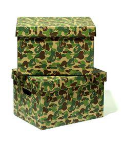 A BATHING APE MEN'S(ベイシングエイプ メンズ)のABC STORAGE BOX(収納グッズ) グリーン
