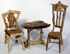 Miniature Rustic Twig Furniture by George C. Clark: Buy Them at the Fort Wayne Museum of Art Art4Sale Event October 21 to 23, 2011