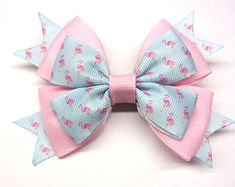 Pink bow for little girl Kids hair ornament Children's big hair clip light pink bow for baby For girl 5 years old Bow with hair clip hairbow