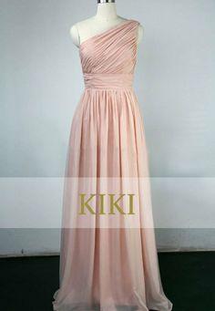 Blush Pink Long Prom Party Evening Bridesmaid Dress By Kikistory