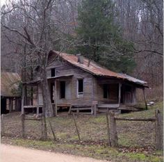Empty house in a Rush Arkansas ghost town