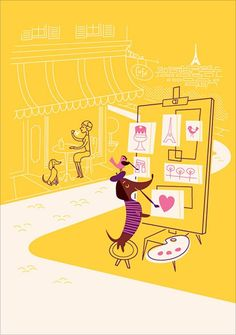 I ♥ Monsieur Boudin Postcards
