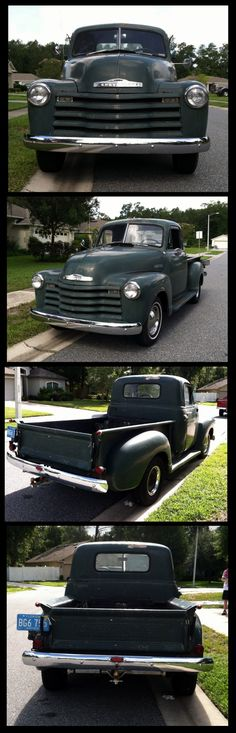1950 Chevy Truck, just like the one my Daddy had when I was a kid! I loved that truck and it's still my favorite model! ~ FJ