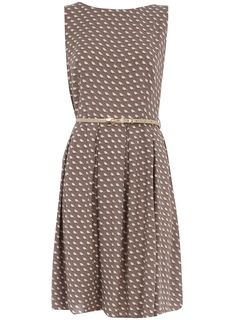 Taupe bird box pleat dress - Dresses Sale - Dresses - Dorothy Perkins United States
