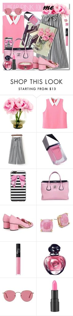 """""""Senza titolo #6061"""" by doradabrowska ❤ liked on Polyvore featuring WithChic, GUiSHEM, Harrods, Chanel, Gucci, Kate Spade, NARS Cosmetics, Christian Dior, Ray-Ban and too cool for school"""