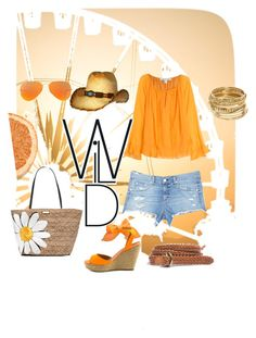 Orange in love by danielsan on Polyvore featuring polyvore fashion style Diane Von Furstenberg rag & bone/JEAN Penny Loves Kenny Kate Spade ABS by Allen Schwartz Madewell Ray-Ban clothing