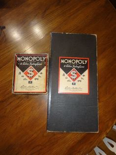 Vintage 1935 Monopoly Game - Money, Hotels, Houses, Cards, Pieces #ParkerBrothers