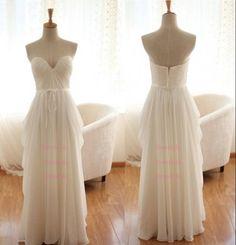 Sweetheart Ivory white simple wedding dress cheap weddings gown dresses-fancy dress formal /weddingguestdresses Custom Dress/X222 on Etsy, $116.00
