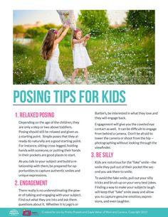 Free Posing Guide: Posing Tips for Kids