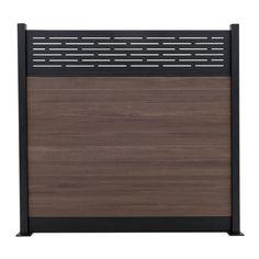 Veranda Euro Style 6 ft. H x 6 ft. W Lattice Top King Cedar Aluminum/Composite Horizontal Fence Section-EF 03401 - The Home Depot