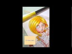 Mari Digis -  Colorindo com lápis de cor e canetinhas
