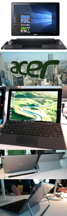 The Acer Switch Alpha 12 2-in-1 has a liquid cooling system which eliminates the need for a fan. Heat generated by the Intel i3U, i5 or i7 processor thermally pushes coolant to the edges, where it recirculates. The #Microsoft #Surface lookalike has a 12-inch, 2,160-by-1,440-pixel detachable touchscreen, up to 8GB of memory and up to 512GB of storage. A non-backlit keyboard is included (a backlit version is optional). The @aceramerica Switch Alpha 12 starts at $599 and arrives in June.
