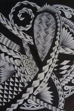 Tattoo Design plenty of Typical Samoan Motifs and Symbols by Julien Ruiz