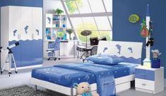 Set Kamar Anak Minimalis Warna Biru (SKA1)