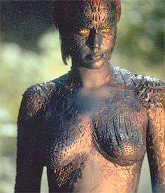Marvel Characters, Marvel Movies, Rebecca Romijn Mystique, Xman Marvel, Mystique Marvel, Female Body Paintings, Jennifer Lawrence Hot, Image Film, Marvel Women
