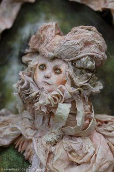 RESERVED La Comtesse de Ségur Blondine by Merveillesenpapier, via Etsy.  paper mache
