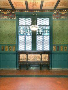 グリーン・ダイニングルーム(現V&A)_モリス・マーシャル・フォークナー商会(ウィリアム・モリス1861年設立)