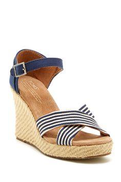 University Strappy Wedge Sandal