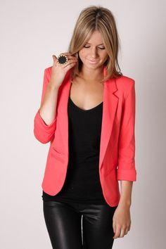Bright coral blazer