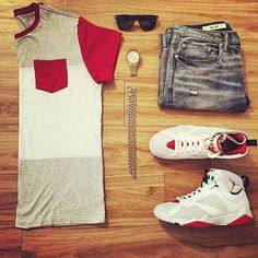 or: by for on-feet photos for outfit lay… – Sean Morales - Touching and Emotional Image Jordans Outfit For Men, Dope Outfits, Casual Outfits, Men Casual, Fashion Outfits, Casual Clothes, Casual Wear, Estilo Tomboy, Urban Fashion
