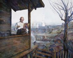 "Contemporary Painting - ""My Castle"" (Original Art from Peggi Habets Studio)"