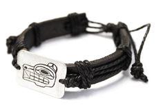 Leather Bracelet - Spirit Wolf by Ben Houstie