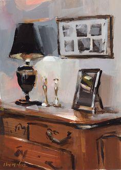 SIGNÉ TIRAGE DART « Lampe et cadre » Il sagit dune reproduction de qualité dune peinture originale de David Lloyd. Imprimées à lencre de la