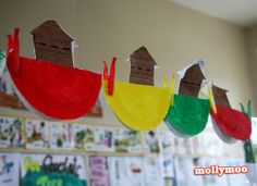 Noah's Ark - Such a simple paper plate craft for the smallies