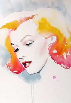 Painting by Godfrey  | This image first pinned to Marilyn Monroe Art board, here: http://pinterest.com/fairbanksgrafix/marilyn-monroe-art/ || #Art #MarilynMonroe