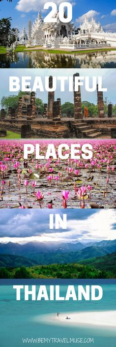 Check out the 20 most beautiful places in Thailand, some of which are totally off the beaten path. From pagodas floating in the sky, a cenote, to the most stunning Thai islands, these places should be on your Thailand bucket list | Be My Travel Muse | Thailand travel tips | backpacking Thailand | Southeast Asia travel