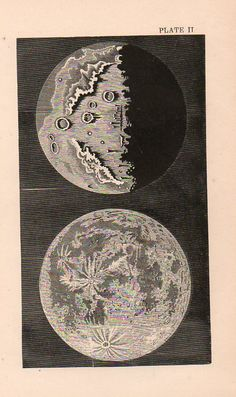 The Moon, ca. 1850. #astronomy #space