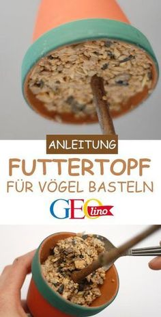 Vogelfutter selber machen: Anleitung und Rezept We'll show you how you can make bird food yourself and make a food pot GEOlino.de, Ground Beef Crock Pot Recipes - Over 30 easy and delicious recipes - Beef Pin by Rosario Valencia on cooking Cute Diy Crafts, Food Crafts, Simple Crafts, Clay Crafts, Winter Crafts For Kids, Diy Crafts For Kids, Diy Niños Manualidades, Bird Food, Winter Food