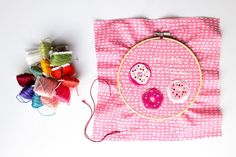"A Glimpse Inside: ""Donut Worry"" Embroidery Pattern"