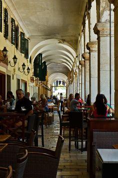 Coffee at Liston, Corfu, Greece