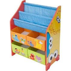 Sesame Street Book and Toy Storage Organizer Toddler Kids Furniture With 4 Bins for sale online Storage Bin Shelves, Kids Storage Bins, Toy Bins, Toy Bin Organizer, Sesame Street Toys, Delta Children, Kids Furniture, Street Furniture, Furniture Market