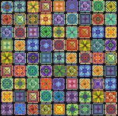 81 square Stitching Sudoku needlepoint by Debbie Deem