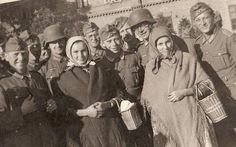 German soldiers and Croatian women smiling???? Something is wrong here!
